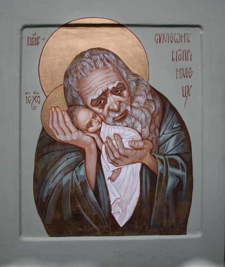 Икона, поразившая меня...Трёхсотлетний старец, горюющий над судьбой Христа...И ласковая беззаботность доверчивого малыша...
