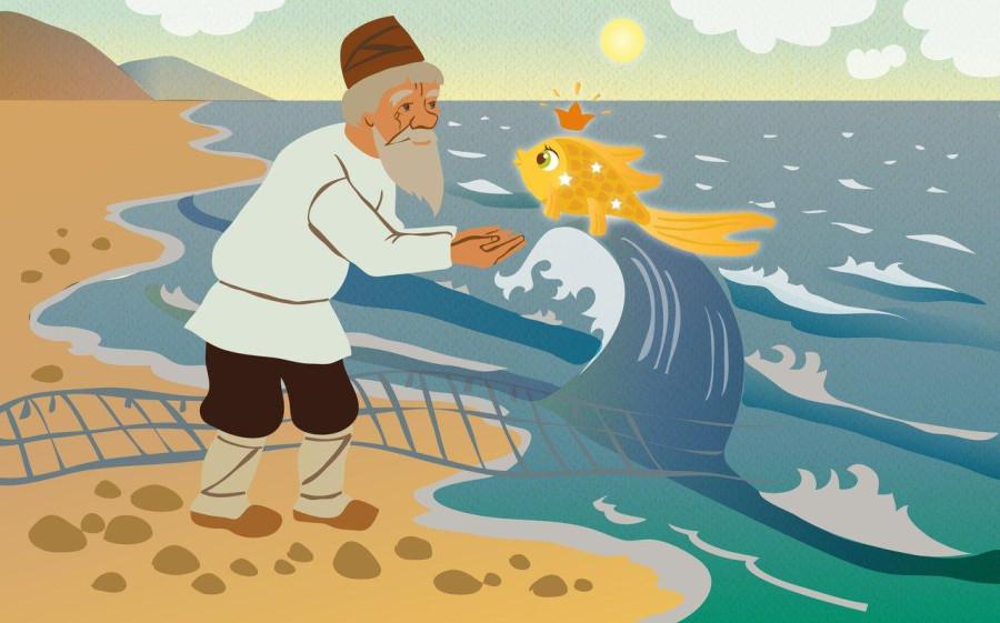 о чем сказка о рыбаке и рыбке краткое содержание