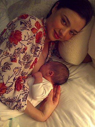 Miranda Kerr and baby Flynn (Kerr?) Bloom