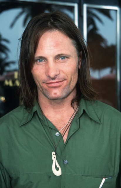 Viggo in green shirt at Cannes