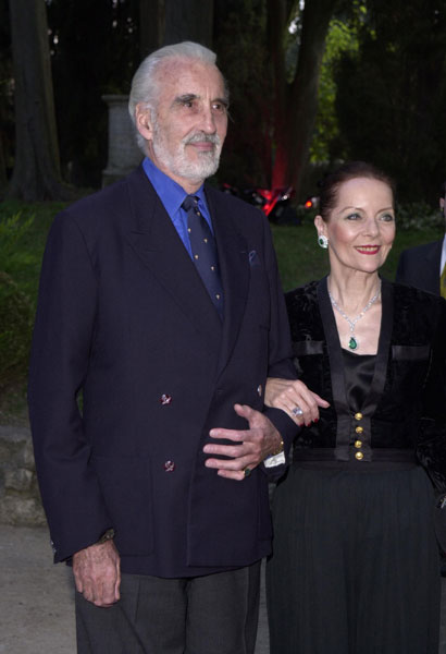 Christopher Lee and wife at Cannes