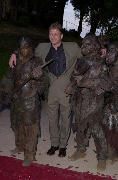 Sean Bean at Cannes with Orcs