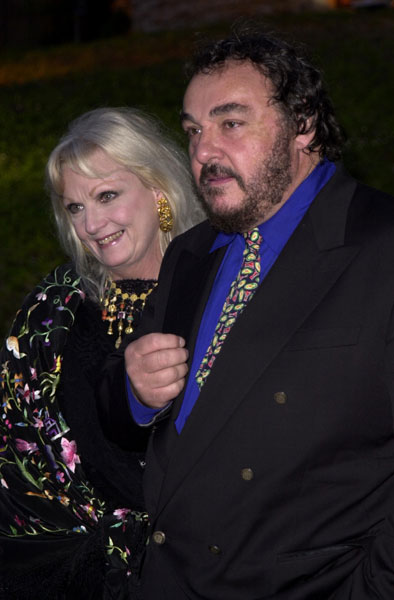John Rhys Davis with wife at Cannes