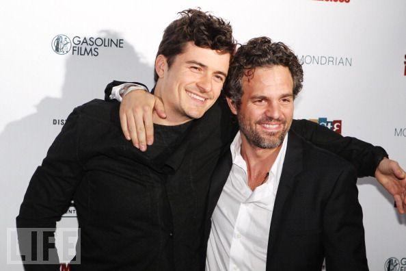 Orlando and Mark Ruffalo at premiere