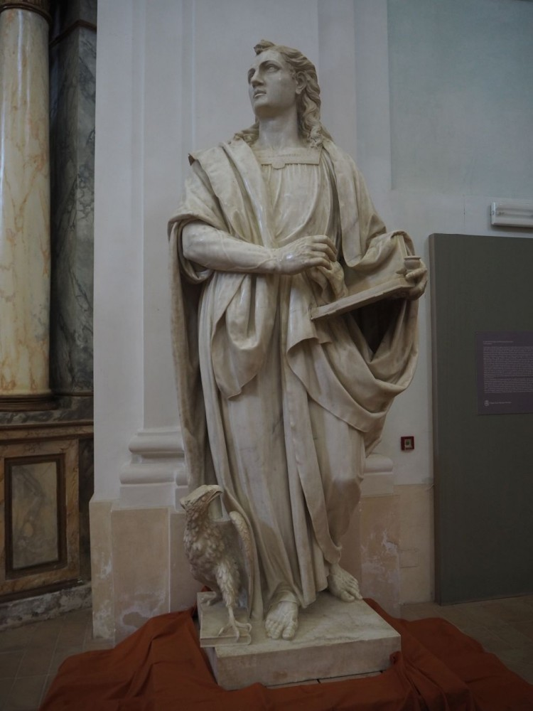St John the Evangelist by Ippolito Scalzi (1588-94)