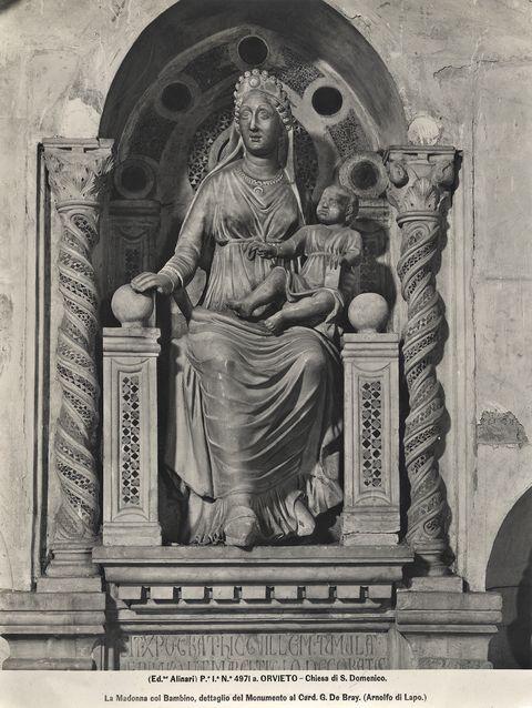 La Madonna col Bambino, dettaglio del Monumento al Card