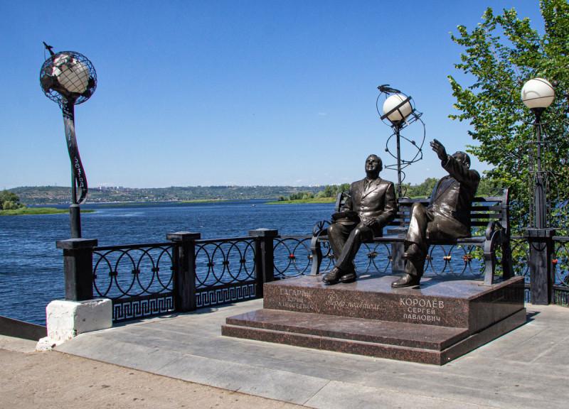 Королев и Гагарин в Энгельсе.