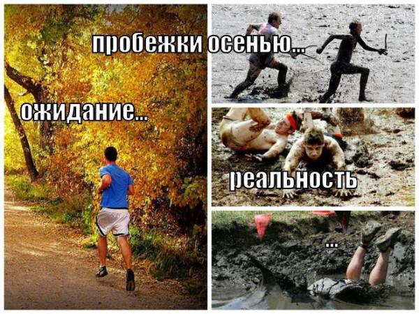 пробежки осенью