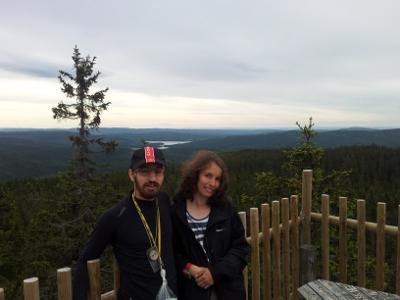 Вид со смотровой вышки на норвежские леса