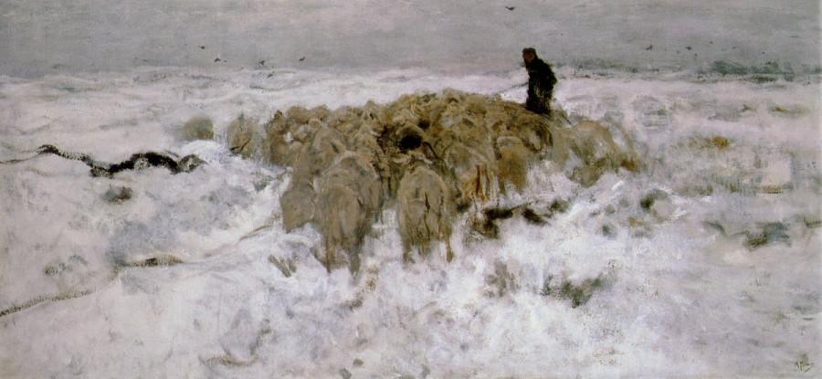 Anton_Mauve_-_Kudde_schapen_met_herder_in_de_sneeuw[1]