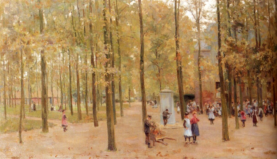 Mauve_Anton_The_Brink_In_Laren_With_Children_Playing