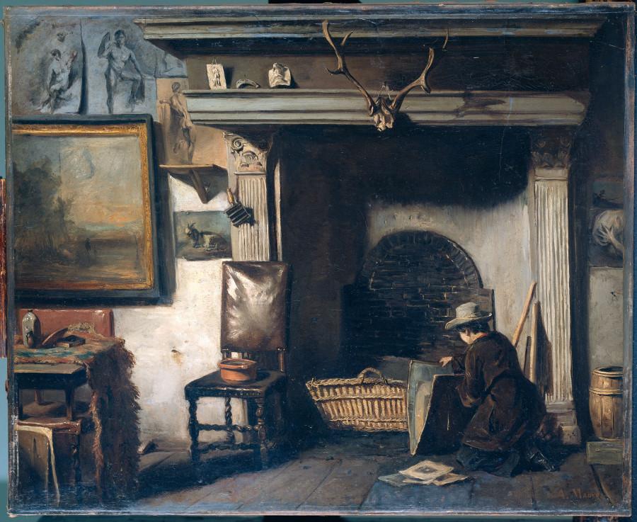 Het atelier van de Haarlemse schilder Pieter Frederik van Os, de leermeester van Mauve