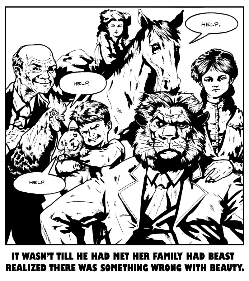 Beauty & the Beast Family Portrait