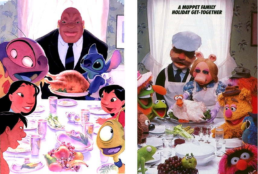Left-Alien-Thanksgiving-from-Disneys-Lilo-and-Stich-2002.-Image-via-vdare.com-Right-Muppets-Freedom-from-Want-1981.-Image-via-muppet.wikia_.com_