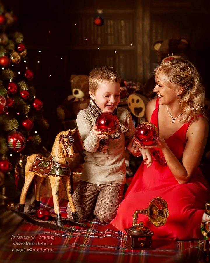 них жили фотосессия на новый год с детьми время его