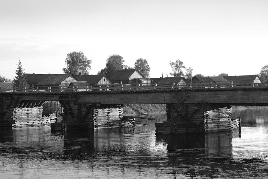 067. Измайловская. Деревянный мост через р.Кена