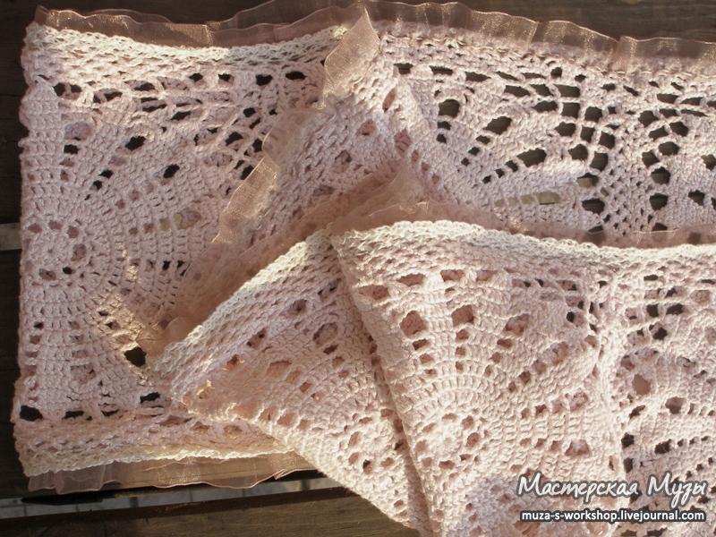 кружевной весенний шарф