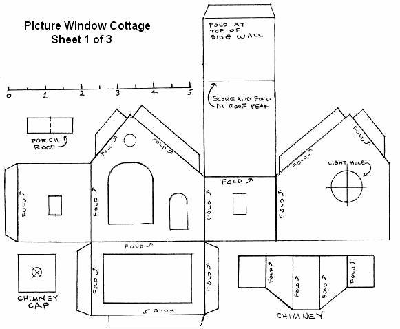 Сделать дом из бумаги схема