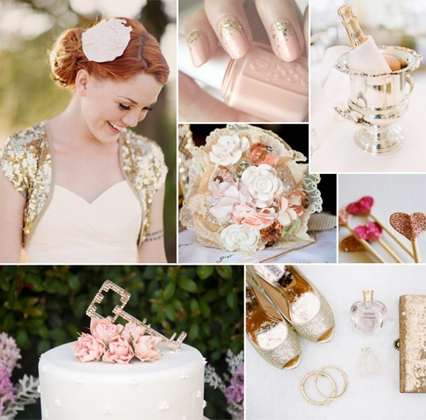 modern-pink-and-gold-sparkle-wedding-ideas-2014