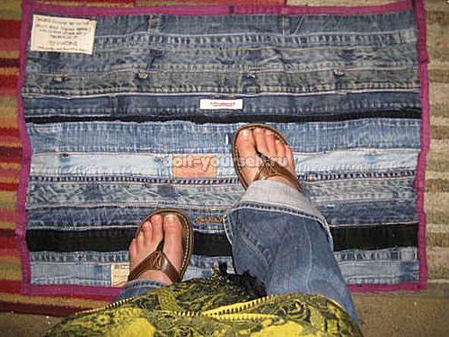 Коврики из джинсов 1