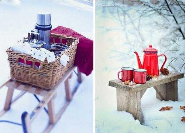 Картинки пикник на природе зимой