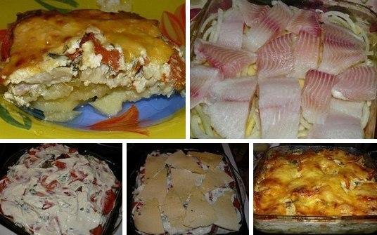 Картофельная запеканка с рыбой в духовке рецепты пошагово