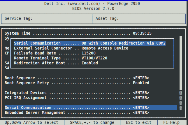 Dell PowerEdge 2950 IPMI remote console: my_hlam — LiveJournal
