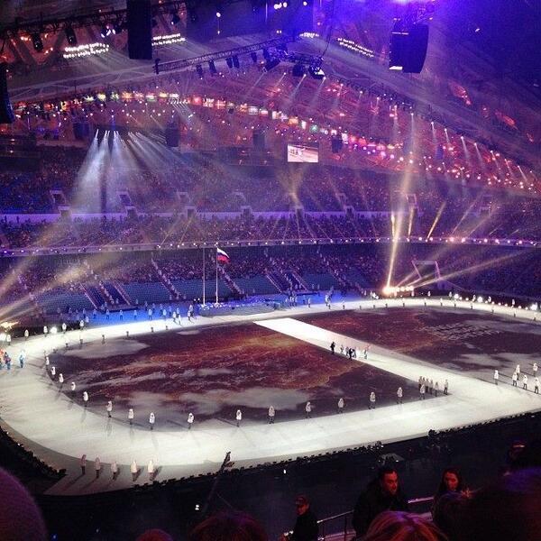 Генеральная репетиция официальной церемонии открытия ХХII зимних игр