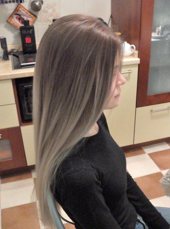 Окрас в русый цвет волос