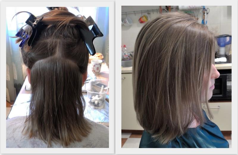 Русый цвет волос после мелирования