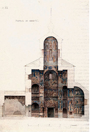 Рис. 1. Купольний храм у розрізі