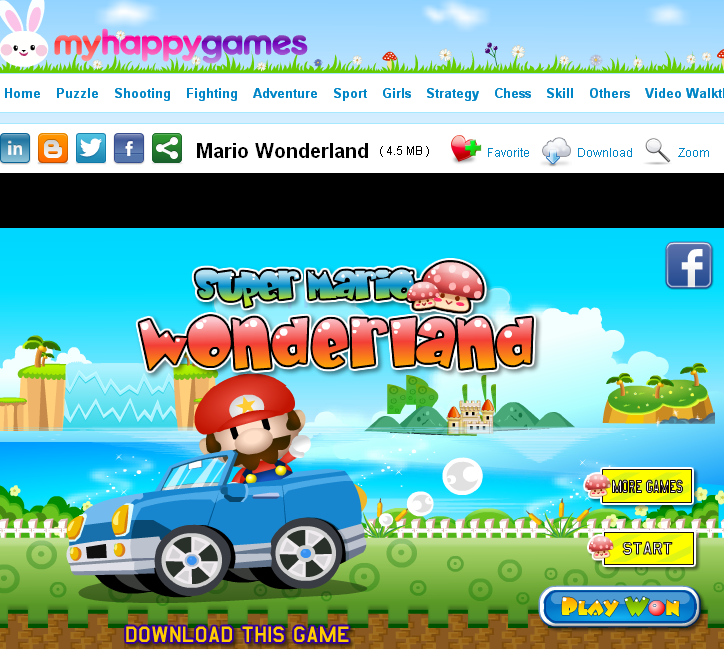 Online Car Games >> Play Mario Wonderland game online free at myhappygames.com | Myhappygames.com -- your forever ...