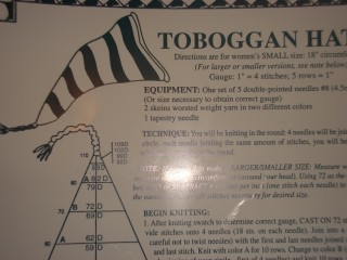 Toboggan Hat Pattern