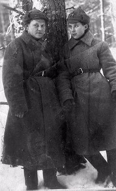 Федосья- слева. Ленинградский фронт 41 г., 1-я стрелковая дивизия внутренних войск НКВД СССР.