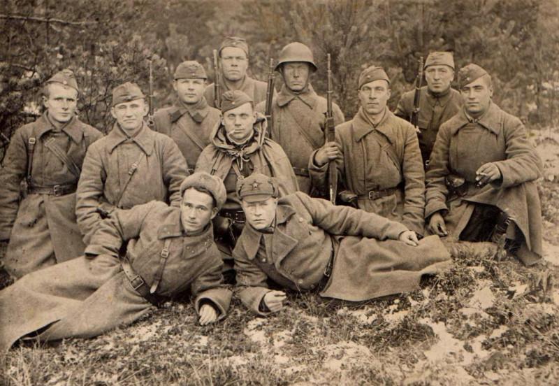 Ленинградский фронт. 46 стрелковая дивизия, 1941 год или  1 стрелковая дивизия НКВД, пограничники.