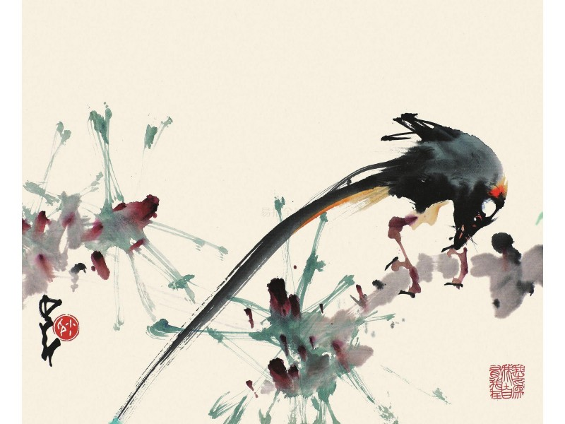 художник Чжао Шао-ан. Стиль сеи.