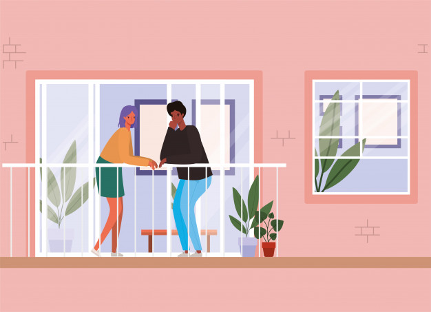 источник фото: https://ru.freepik.com/premium-vector/couple-looking-out-the-window-with-balcony-from-pink-house-design-stay-at-home-theme-illustration_8204811.htm