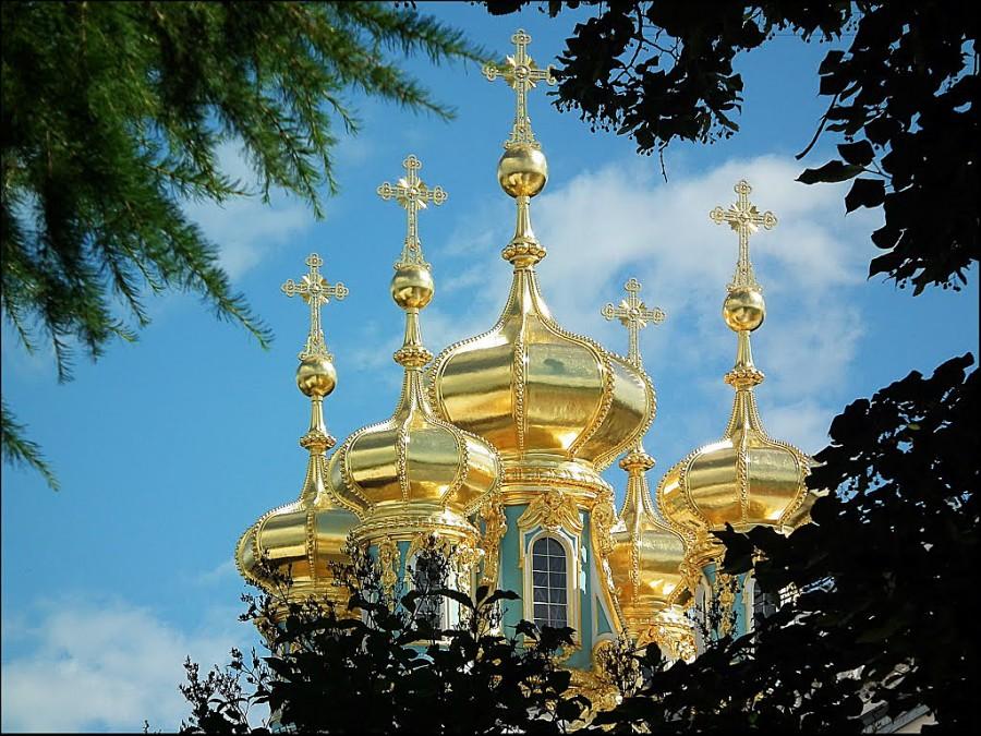 25 ЦС - Екатериненский дворец кресты на церкви