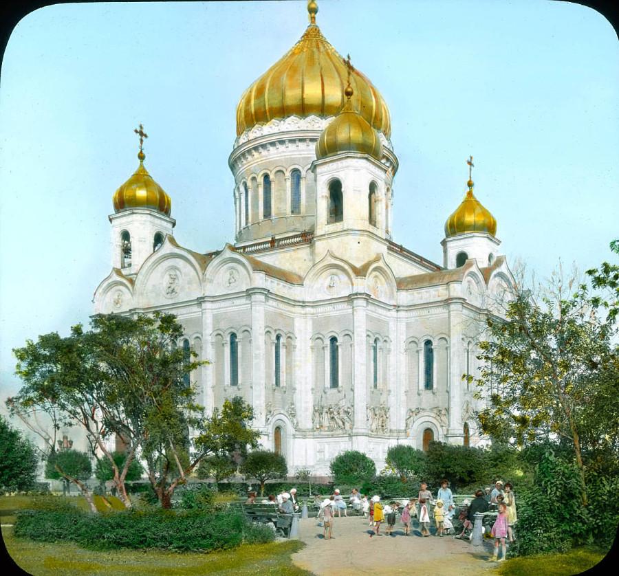 29 Москва. Храм Христа Спасителя. Общий вид 1931