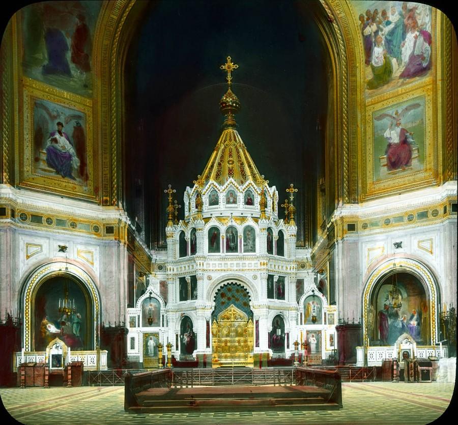 30 Москва. Храм Христа Спасителя. Внутренний вид 1931