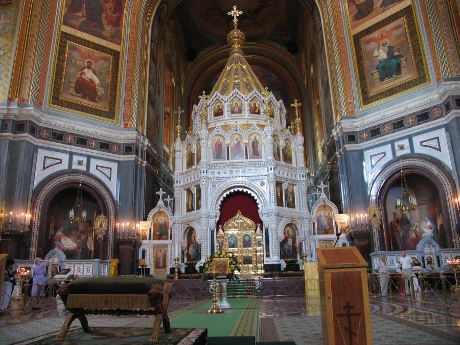 31 Москва. Храм Христа Спасителя. Внутренний вид сейчас