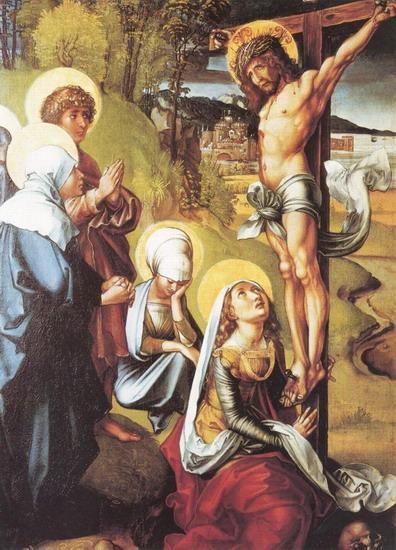 37 Р03 Дюрер Семь скорбей Марии Распятие Христа