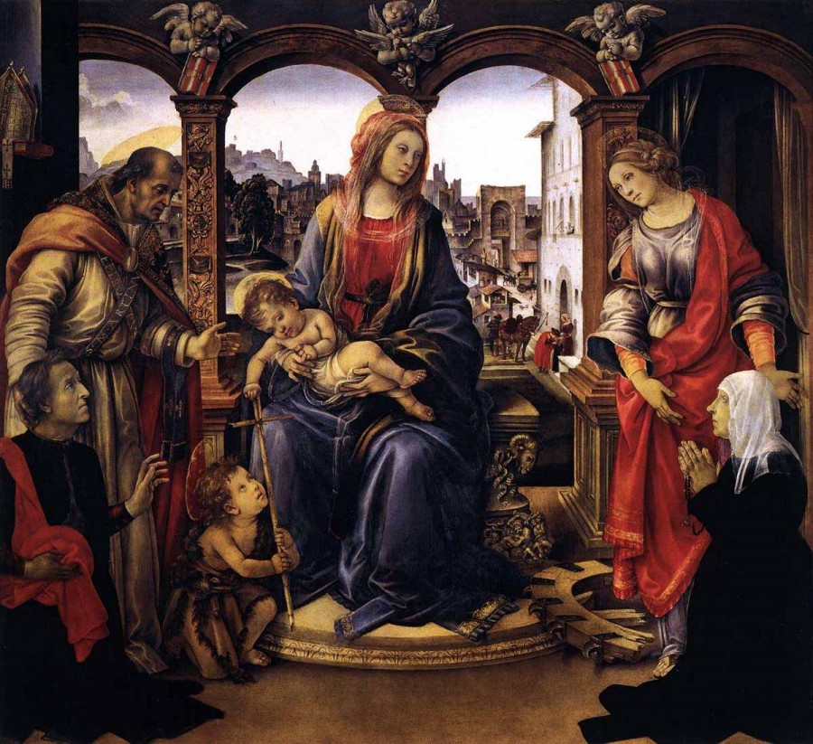 05 Филиппино Липпи - Мадонна с младенцем и святыми