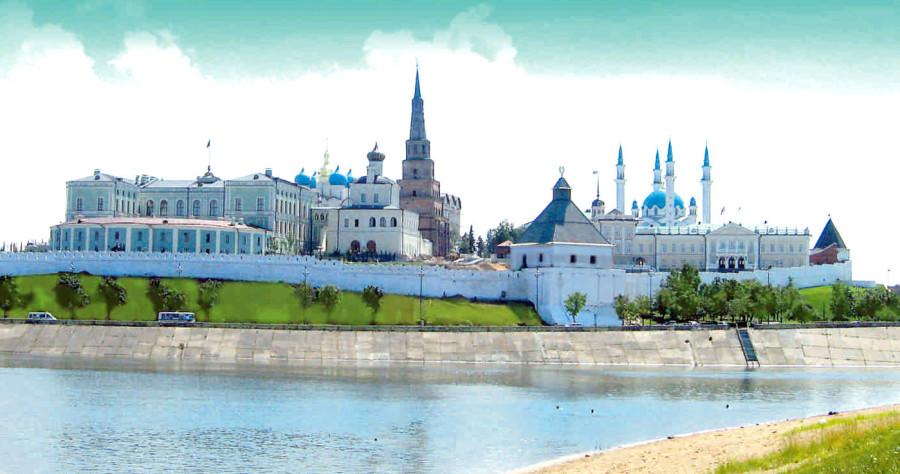 17 Казанский кремль общий вид