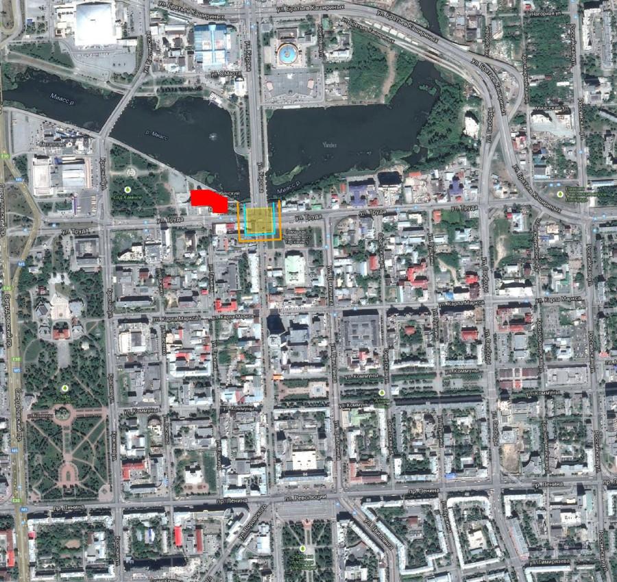Челябинск схема крепости на спутнике_1