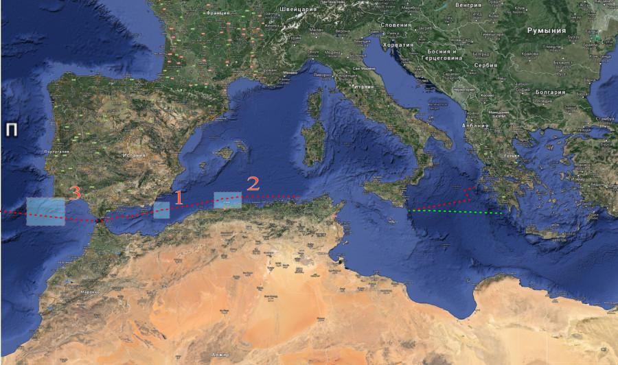 15 Общая схема Средиземное море
