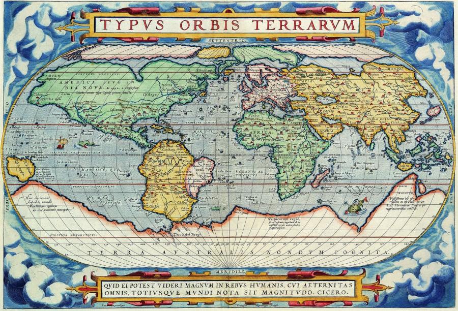 21 Старая карта 1575 Francois De Belleforest