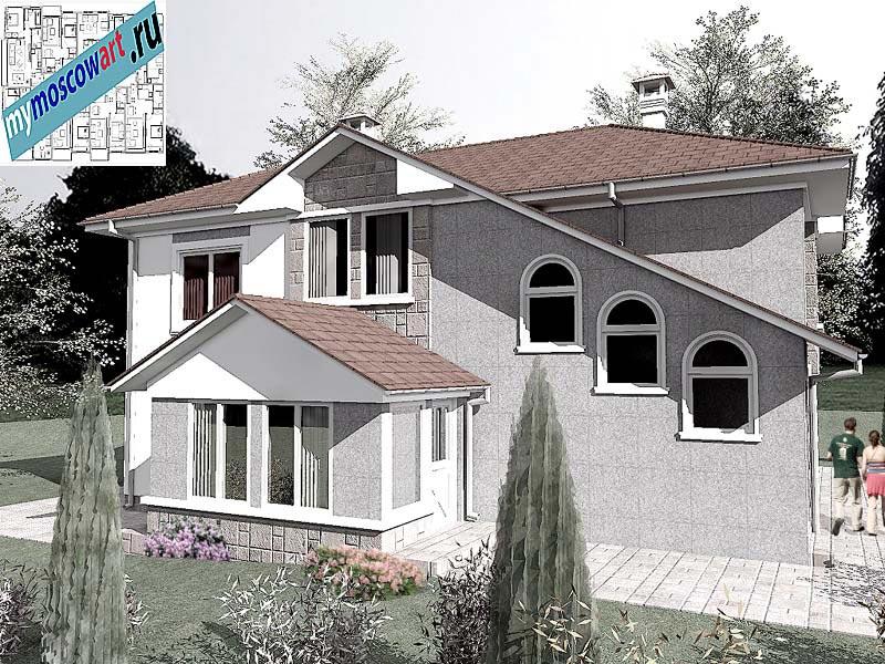 Проект пристройки дома - Виданович (Деревня Деспотовац - Сербия) (3)