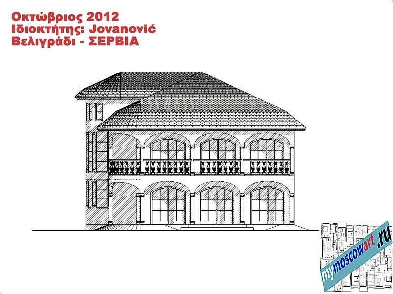 Проект дома - Йованович (Город Белград - Сербия) (12)