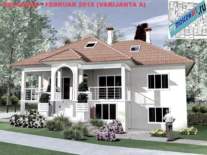 Проект дома - Милан (Деревня Балайнац - Сербия) (14)